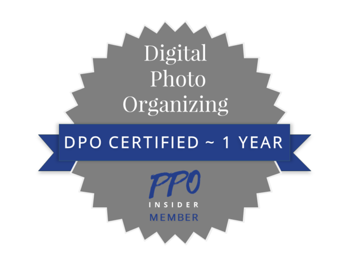 DPO Certified Digital Photo Organizing