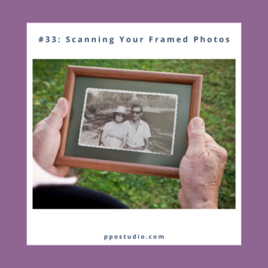 scanning framed photos